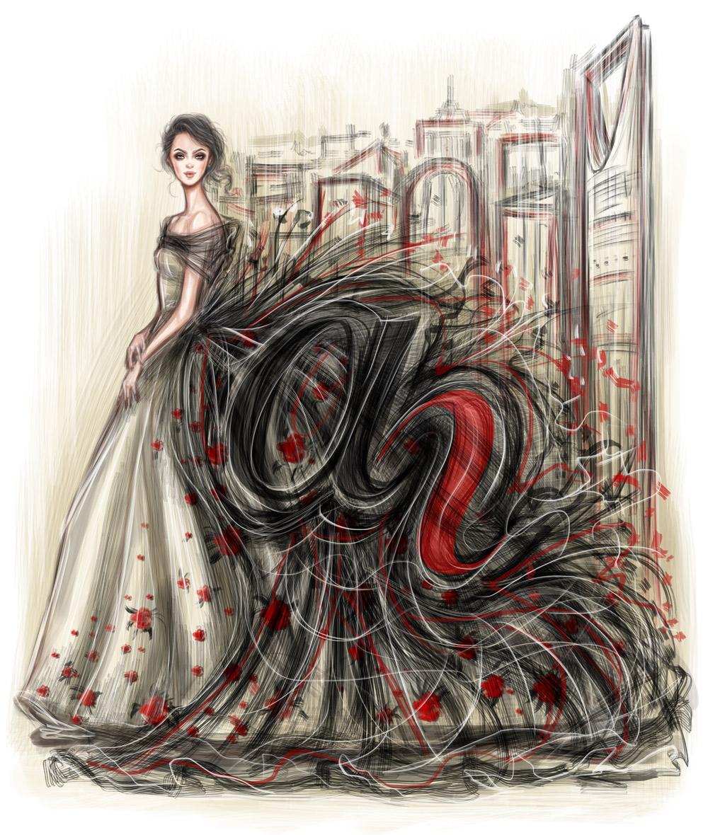 'About Her' Illustration by Shamekh Al-Bluwi