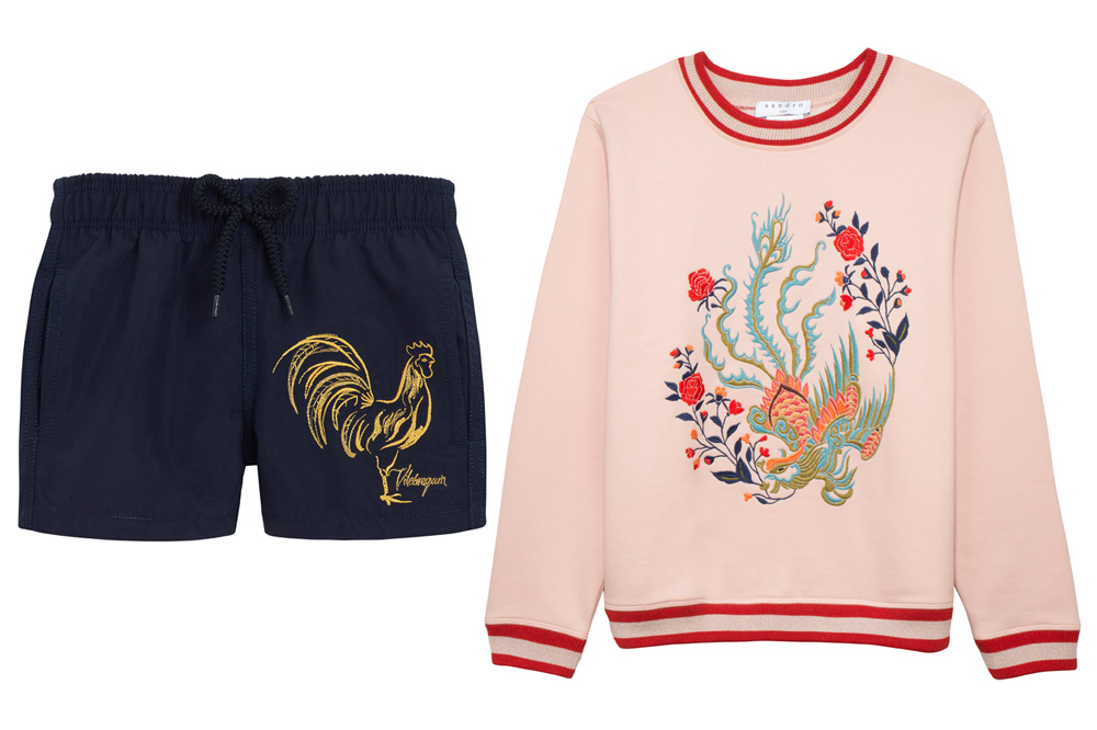 Vilebrequin special edition shorts and Sandro sweater